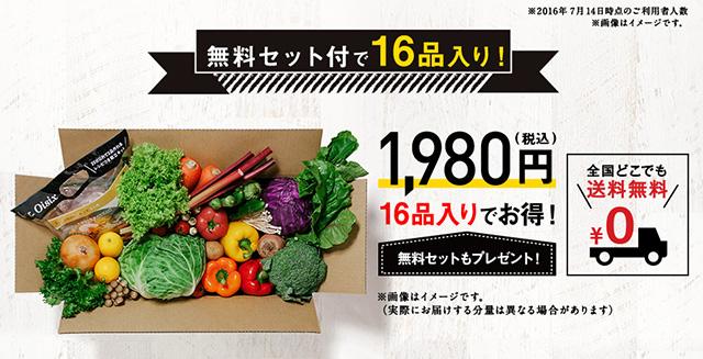 オイシックスの野菜宅配