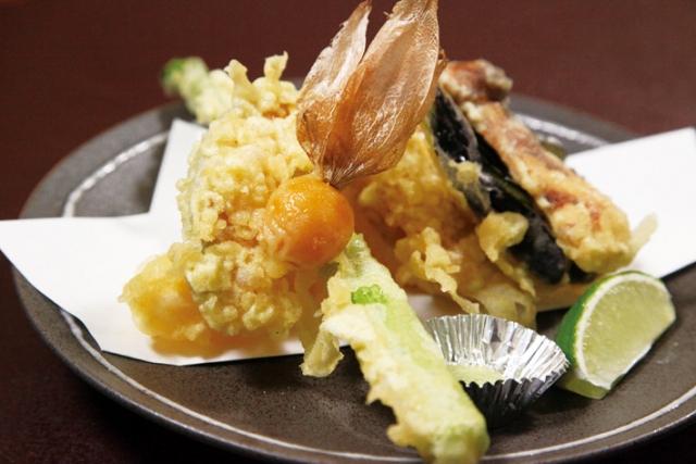 旬の野菜の天ぷら